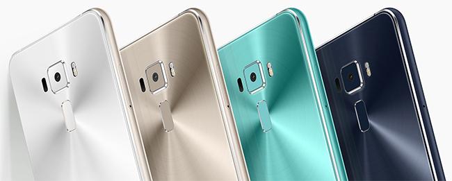 ZenFone 3の背面 4色