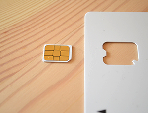SIMカードを台紙から外す