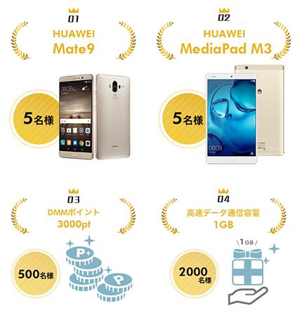 DMMモバイル 2周年キャンペーンのプレゼント賞品