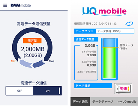MVNOが提供する無料アプリ