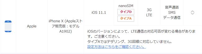 BIGLOBEモバイルで利用できるiPhone X