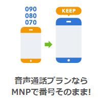 MNPで他社から番号そのままで乗り換えOK!
