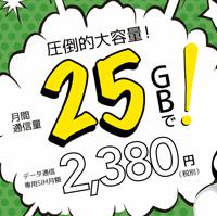 ドコモ回線の大容量プランドコモ網のプラン「25GB定額」