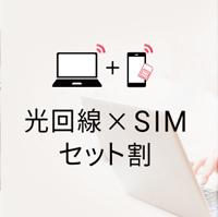 DTI SIMとDTI光をセットで利用すると適用される「DTI 光×SIMセット割」