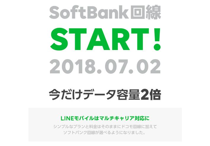 LINEモバイルのソフトバンク回線サービス