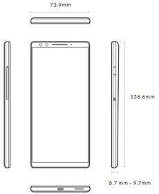 HTC U12+のサイズ